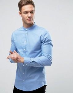 Узкая рубашка с воротником на пуговицах Casual Friday - Синий