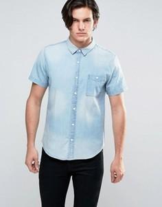 Выбеленная джинсовая рубашка Another Influence - Синий