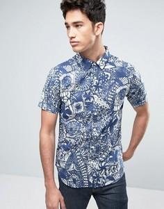 Рубашка с принтом Another Influence - Темно-синий