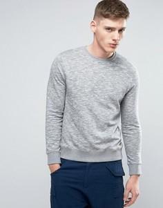 Серый базовый свитшот с круглым вырезом Esprit - Серый
