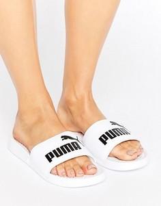 Белые шлепанцы с логотипом Puma - Белый