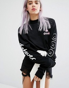 Лонгслив Lazy Oaf Whatever - Черный