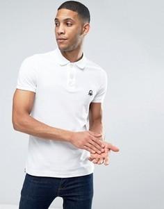 Узкая футболка-поло с короткими рукавами United Colors of Benetton - Белый