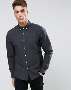 Темно-синяя оксфордская рубашка на каждый день ASOS - Темно-синий