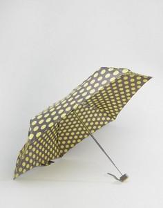 Зонт в горошек горчичного цвета Totes - Серый