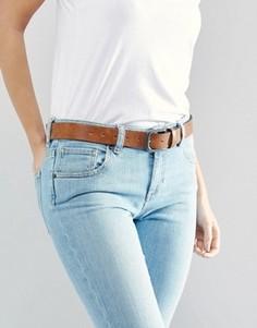 Коричневый ремень под джинсы в винтажном стиле ASOS - Коричневый