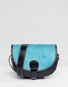 Кожаная сумка-седло через плечо Park Lane - Черный