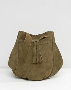 Замшевая сумка через плечо Park Lane - Золотой
