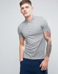 Футболка-поло с вышивкой логотипа на груди Jack & Jones Originals - Серый
