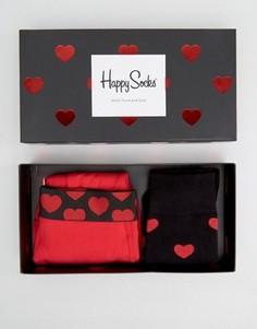 Подарочный набор с боксерами-брифами и носками (2 шт.) Happy Socks Valentines - Мульти