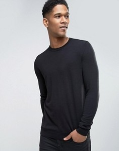 Хлопковый джемпер Sisley - Черный