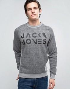 Свитшот с графическим принтом Jack & Jones Core - Серый