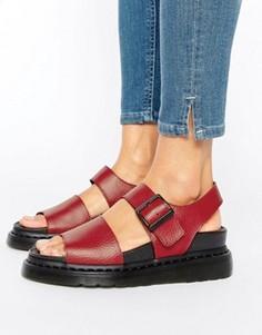 Красные кожаные сандалии Dr Martens Romi - Красный