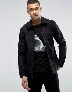 Куртка из искусственной замши D-Struct - Черный