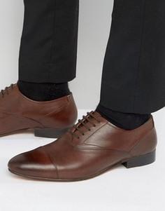 Кожаные оксфордские туфли KG Kurt Geiger Anthony - Коричневый