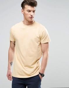 Длинная футболка с прорехами D-Struct - Рыжий