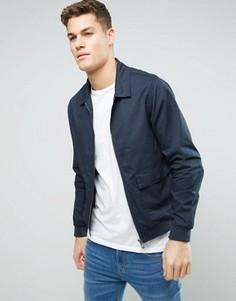 Хлопковая куртка Харрингтон D-Struct - Темно-синий