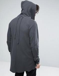 Худи-кардиган удлиненного кроя Jack & Jones Core - Серый