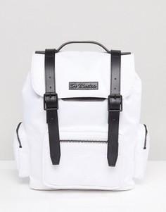 Средний рюкзак из прочного нейлона с контрастными ремешками Dr Martens - Белый