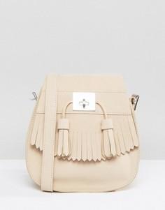 Сумка на плечо песочного цвета с кисточками Dr Martens - Кремовый