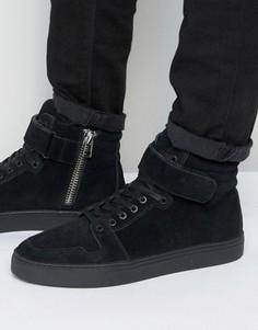Высокие замшевые кроссовки KG Kurt Geiger Anderson - Черный