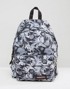 Черный уплотненный рюкзак с тропическим принтом Eastpak PakR - Черный