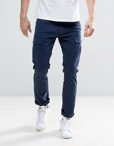 Узкие брюки карго Esprit - Темно-синий