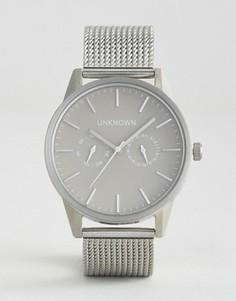 Серебристые часы с хронографом UNKNOWN - Серебряный