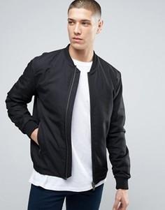 Куртка‑пилот с двусторонней молнией Selected Homme - Черный