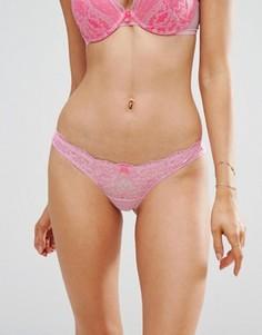 Кружевные бразильские трусики Ann Summers - Розовый