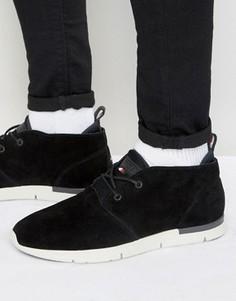 Замшевые кроссовки средней высоты Tommy Hilfiger Tobias - Черный
