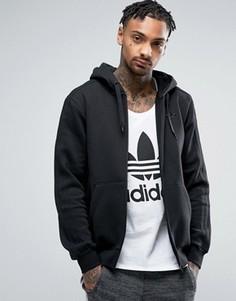 Черное худи на молнии adidas Originals TRF Series BK5897 - Черный