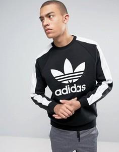 Черный свитшот с круглым вырезом и логотипом adidas Originals Berlin BK7179 - Черный