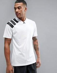 Белая футболка в стиле ретро adidas Tango AZ9708 - Белый