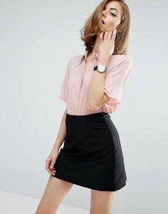 Укороченная блузка с короткими рукавами ASOS - Черный
