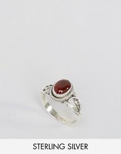 Кольцо с карнелианом для рожденных в июле Rock N Rose - Серебряный