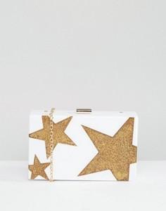 Клатч со звездами Liquorish - Белый