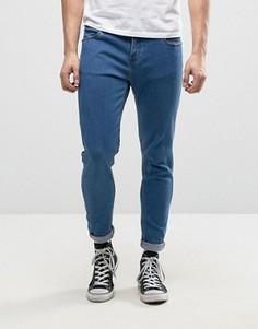 Умеренно выбеленные супероблегающие джинсы Farah Howells - Синий