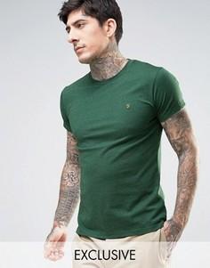 Зеленая меланжевая футболка эксклюзивно для Farah - Зеленый