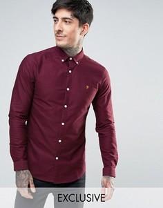 Красная оксфордская рубашка скинни эксклюзивно для Farah - Красный