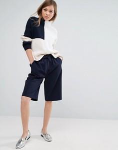 Свободные шорты ASOS Tailored - Темно-синий