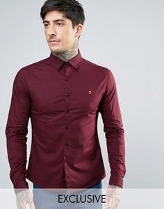 Красная поплиновая рубашка скинни эксклюзивно для Farah - Красный