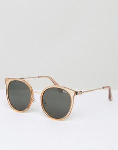 Солнцезащитные очки в круглой оправе Quay Australia - Золотой