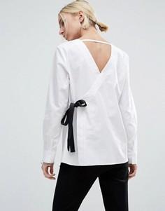 Рубашка с V-образными вырезами ASOS - Белый