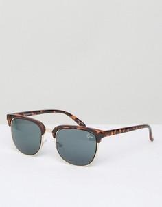 Черепаховые солнцезащитные очки в стиле ретро Quay Australia Flint - Коричневый