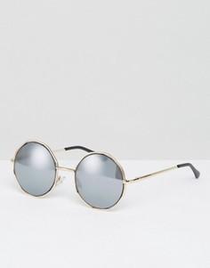 Шестиугольные солнцезащитные очки ASOS - Черный