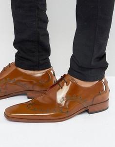 Туфли дерби с лазерным принтом Jeffery West Scarface - Рыжий