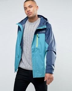 2-цветная синяя непромокаемая куртка с капюшоном Columbia Pouring Adventure - Синий