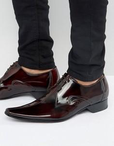 Туфли с прострочкой по центру Jeffery West - Красный