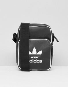 Черная сумка для авиапутешествий в стиле ретро adidas Originals BK2132 - Черный
